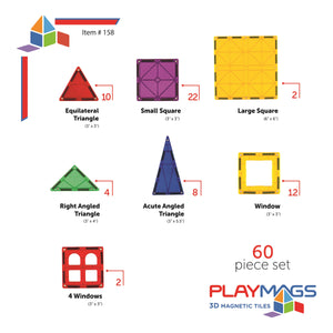 Playmags Supermags 60 Piece Classic Set