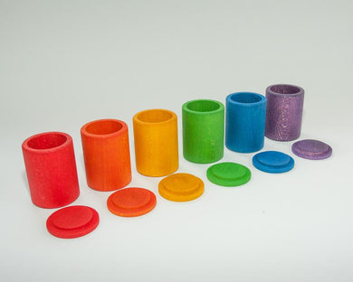 Grapat 6 Coloured Cups with Lids
