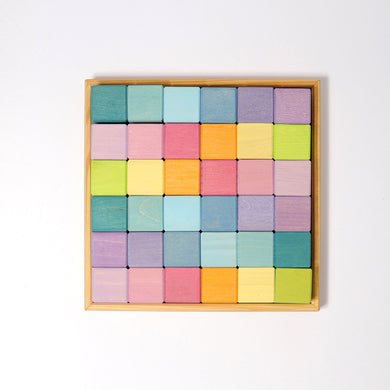 Grimm's Pastel Square Mosaic 36 pieces