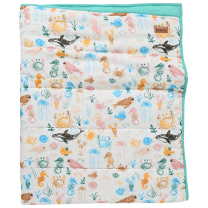 Sea Bed Quilted Cot Bedspread