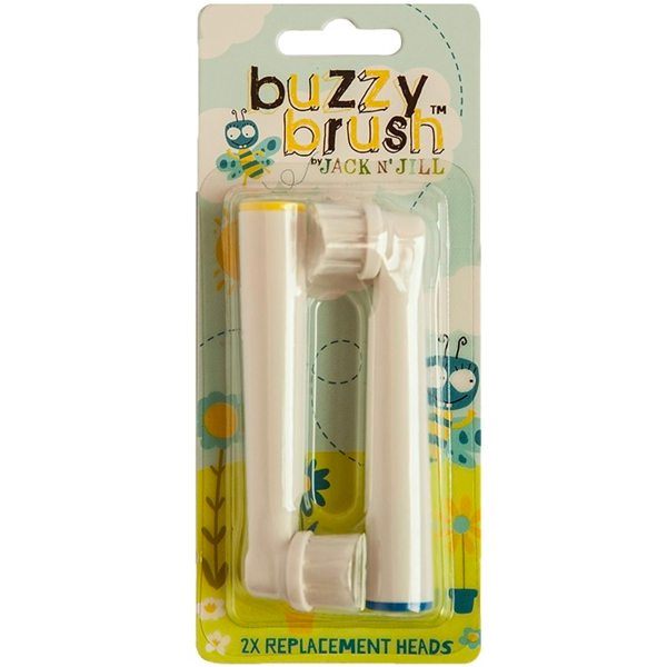 New Version 2 Jack N' Jill Buzzy Brush - 2 Replacement Heads for Electric Toothbrush