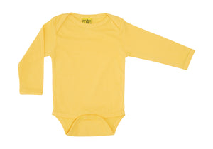 More Than A Fling - Long Sleeve Organic Bodysuit - Banana Cream