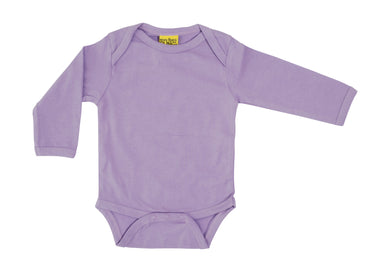 More Than A Fling - Long Sleeve Organic Bodysuit - Medium Violet