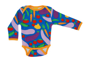 DUNS Sweden - Long Sleeve Organic Bodysuit - Cultivate Blue
