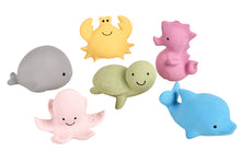 Tikiri My First Ocean Buddies | Natural Rubber Rattle & Teether Toys - 6 Assorted Designs