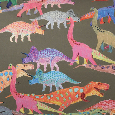 Dino Earth Cotton Single Fitted Sheet
