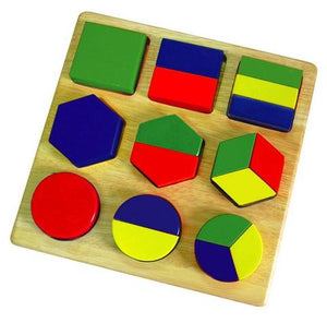 Wooden Shape Fractions Puzzle