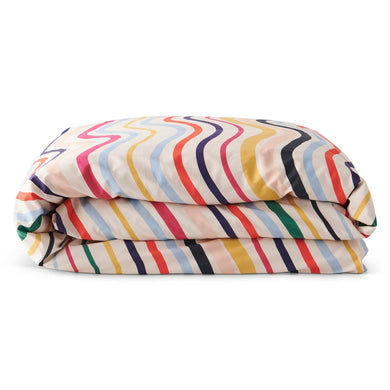 Ripple Rainbow Cotton Single Quilt Cover
