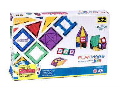 Playmags Supermags 32 Piece Starter Set
