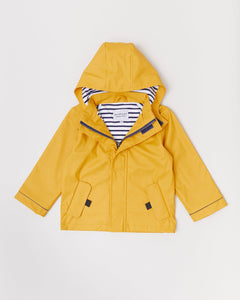 Stripy Sailor Rainkoat Mustard