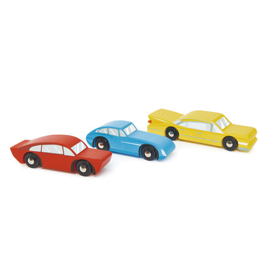 Wooden Retro Cars Set