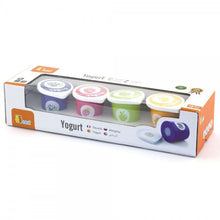 Set of 4 Wooden Yoghurt Tubs