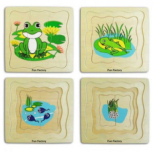 4 Layer Frog Puzzle