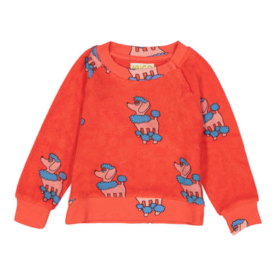 Red Poodle Terry Sweatshirt