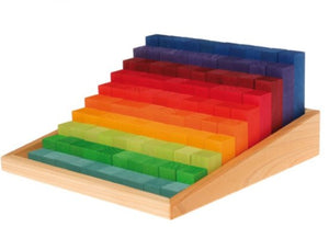 100 Stepped Counting Wooden Blocks - Spiel & Holz