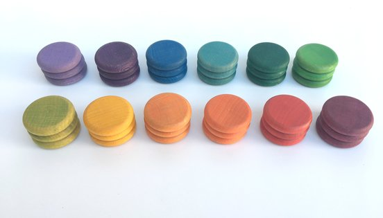 Grapat Coloured Coins 36 in 12 colours