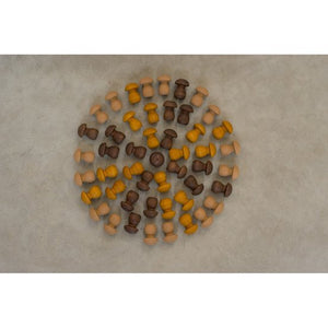 Grapat Mandala Brown Mushrooms