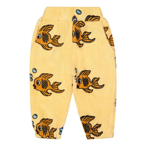 Yellow Fish Terry 80's Sweat Pants