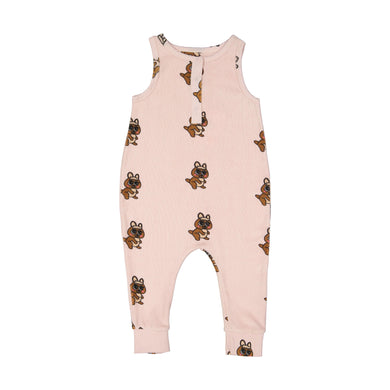 Brown Canguro Terry Long Leg Romper