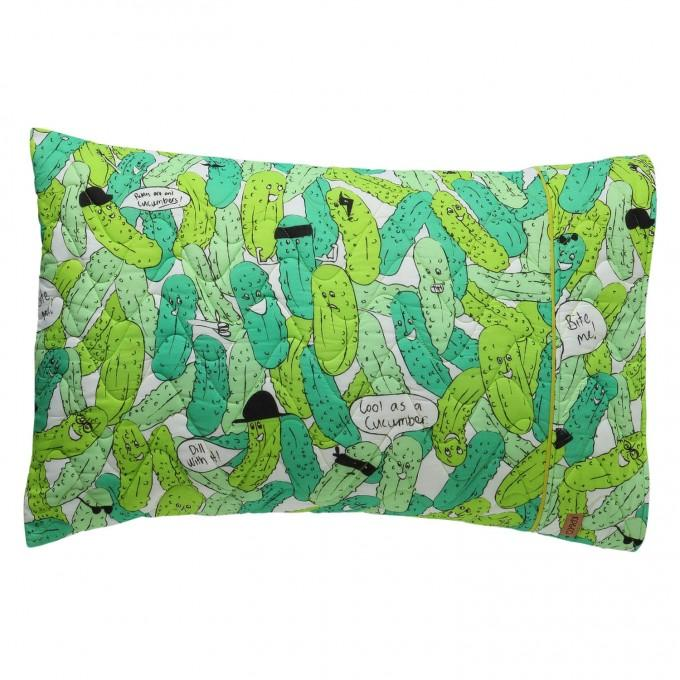 In A Pickle Quilted Pillowcase
