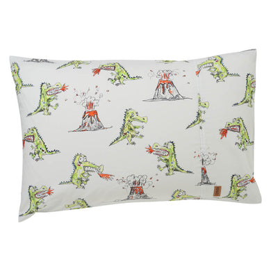 Dino Roar Cotton Single Pillowcase