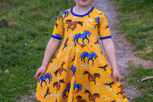 Coddi & Womple - Storm - Leader of the Wild Herd | Short Sleeve twirl dress