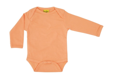 More Than A Fling - Long Sleeve Organic Bodysuit - Cantaloupe