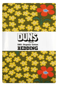 DUNS Sweden - Organic Bedding Set - Flower Olive