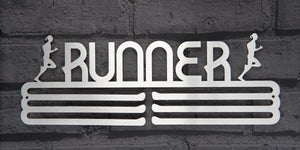 RUNNER FEMALE MEDAL DISPLAY HANGER