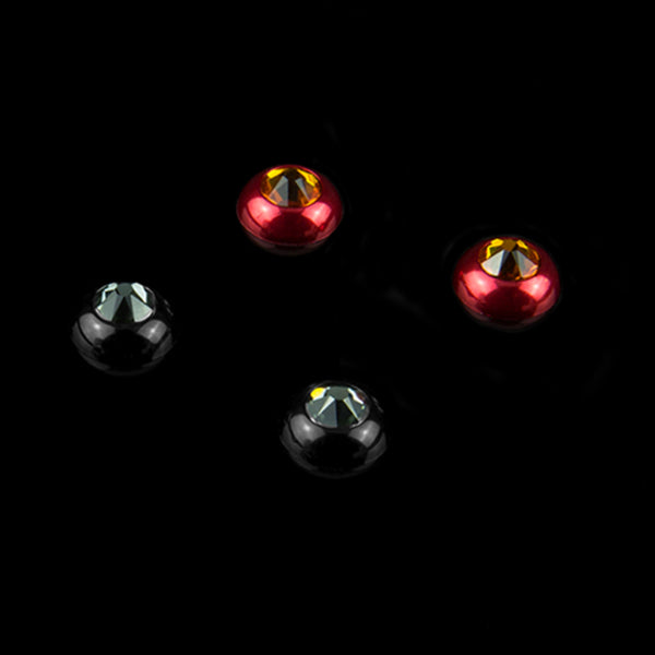 Interchangeable Swarovski Crystal Caps - Ignition - (Black / Tangerine)