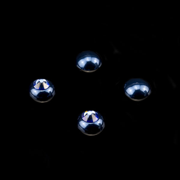 Interchangeable Swarovski Crystal Caps - Navy Blue - (Blank / Blue Zircon)