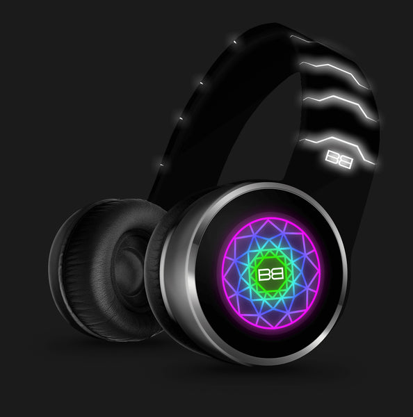 BassBuds GLOW Over-Ear Bluetooth Headphones