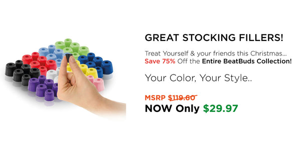 BeatBuds - Memory Foam Earbuds - 8 color pack in 3 sizes (24 sets)