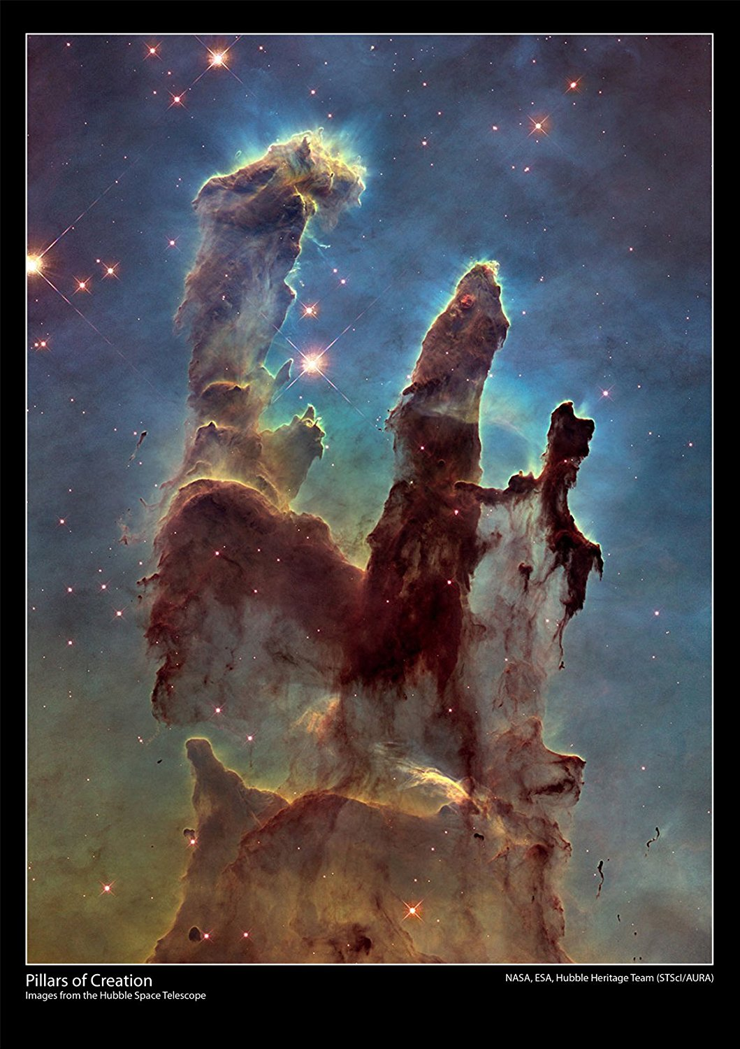 Pillars of Creation - Hubble Space Telescope Poster ...