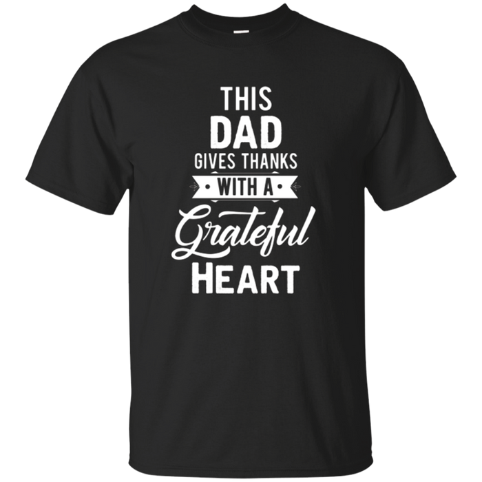 Mens This Dad Gives Thanks Thanksgiving T-Shirt