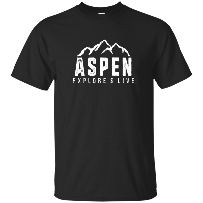 Aspen Colorado T-Shirt Distressed Hiking Adventure Shirt