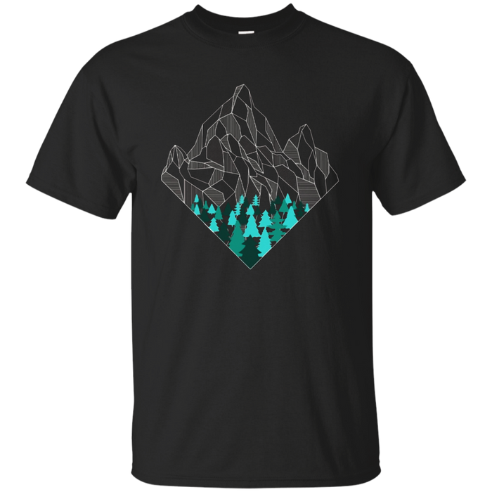 Minimal mountains geometry outdoor hiking t-shirt