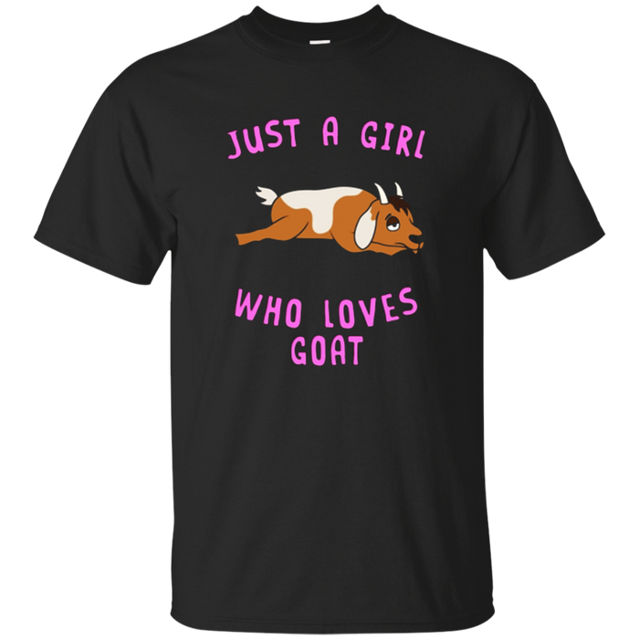 Just a Girl Who Loves Goat T-Shirt Animal Spirit