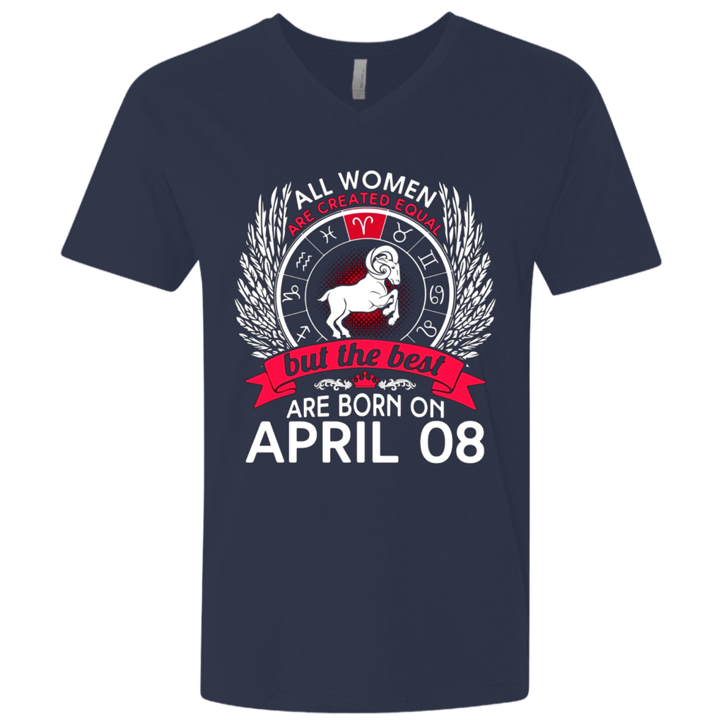 All Women Are Created Equal Born On April 8 T-shirt