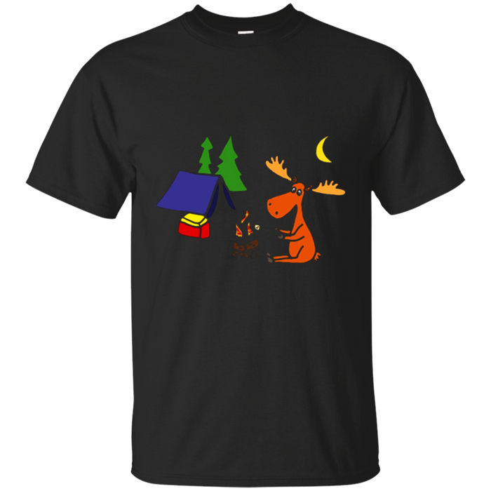 Smiletodaytees Cute Moose Camping T-shirt