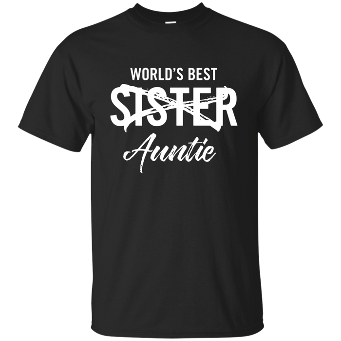 World's Best Sister Aunt Pregnancy Announcement t shirt