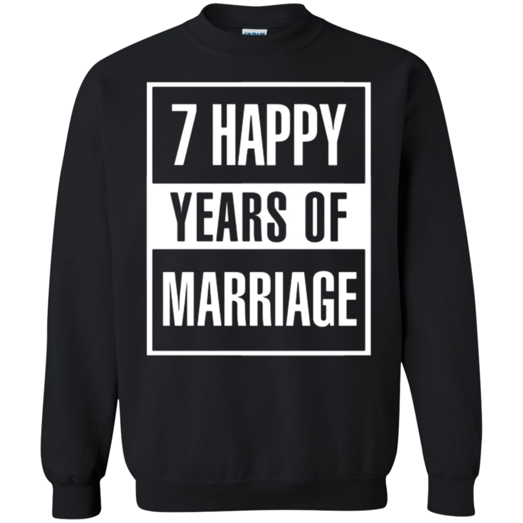 7th Wedding Anniversary Gift Idea Husband And Wife T-Shirt