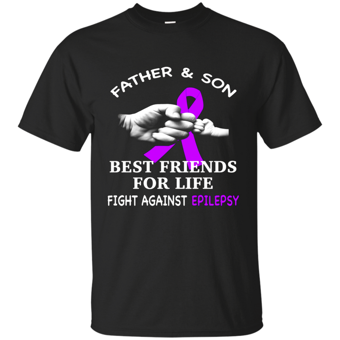 father and son fight against epilepsy t shirt
