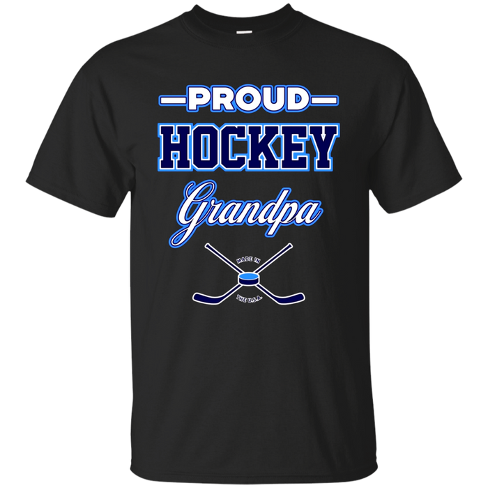 Mens Proud Hockey Grandpa T-Shirt (USA)