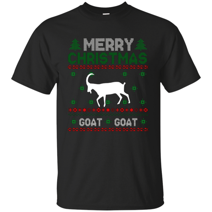 Merry Christmas Ugly Tshirt; Kids Goat Xmas Shirt Ugly