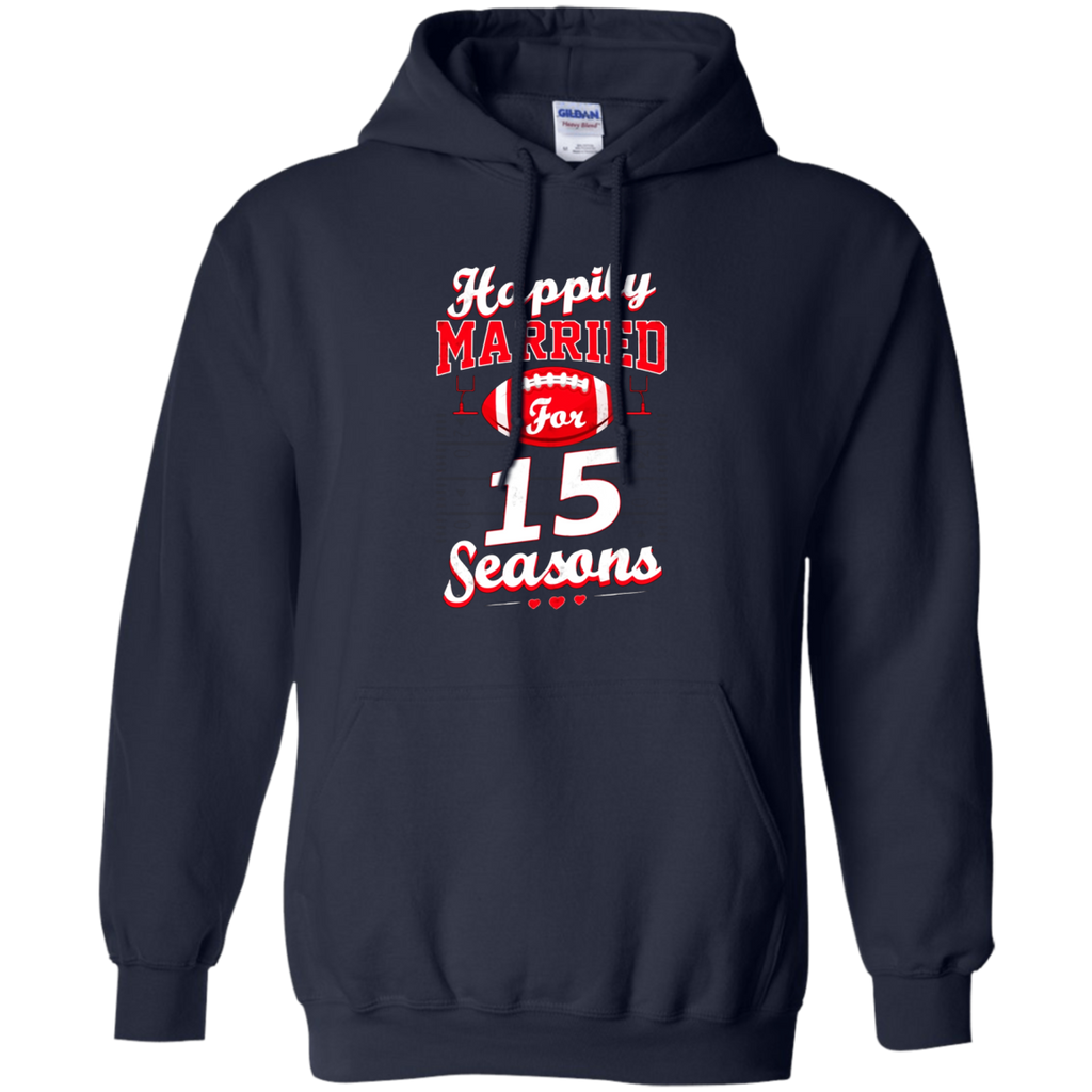 15th Wedding Anniversary Funny Football Lover T-Shirt Gift