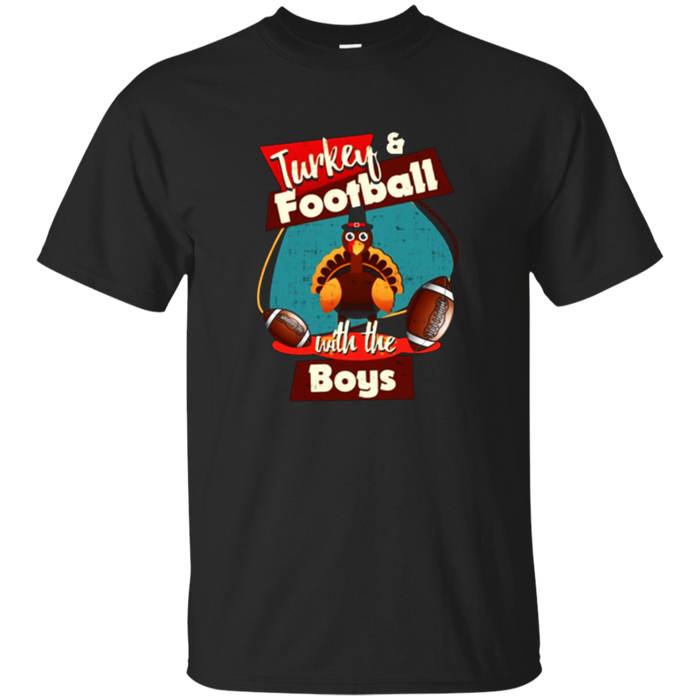 Turkey and football Thanksgiving T shirts with the boys