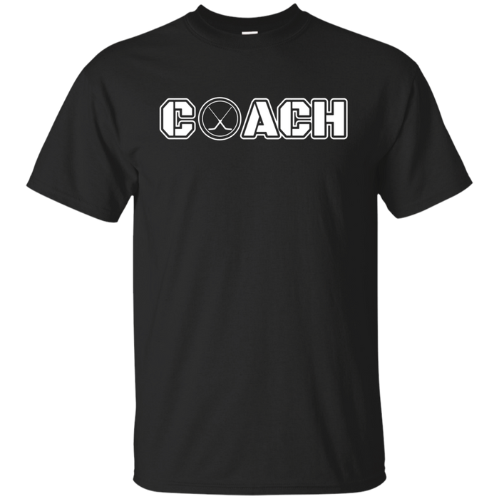 Hockey Puck Coach T Shirt Gift for your coach t shirt