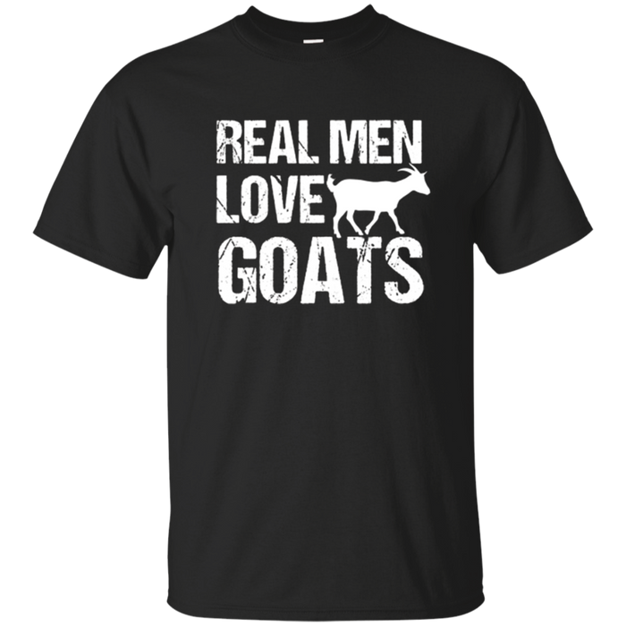 Real Men Love Goats Shirt Funny Milk Lover Farmer Gift