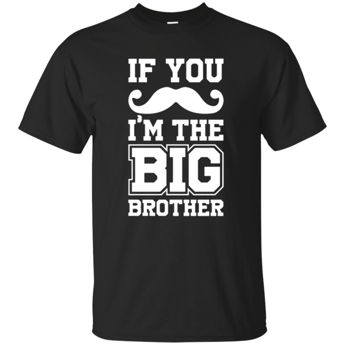 Funny Kids Mustache Big Brother Sibling T Shirt
